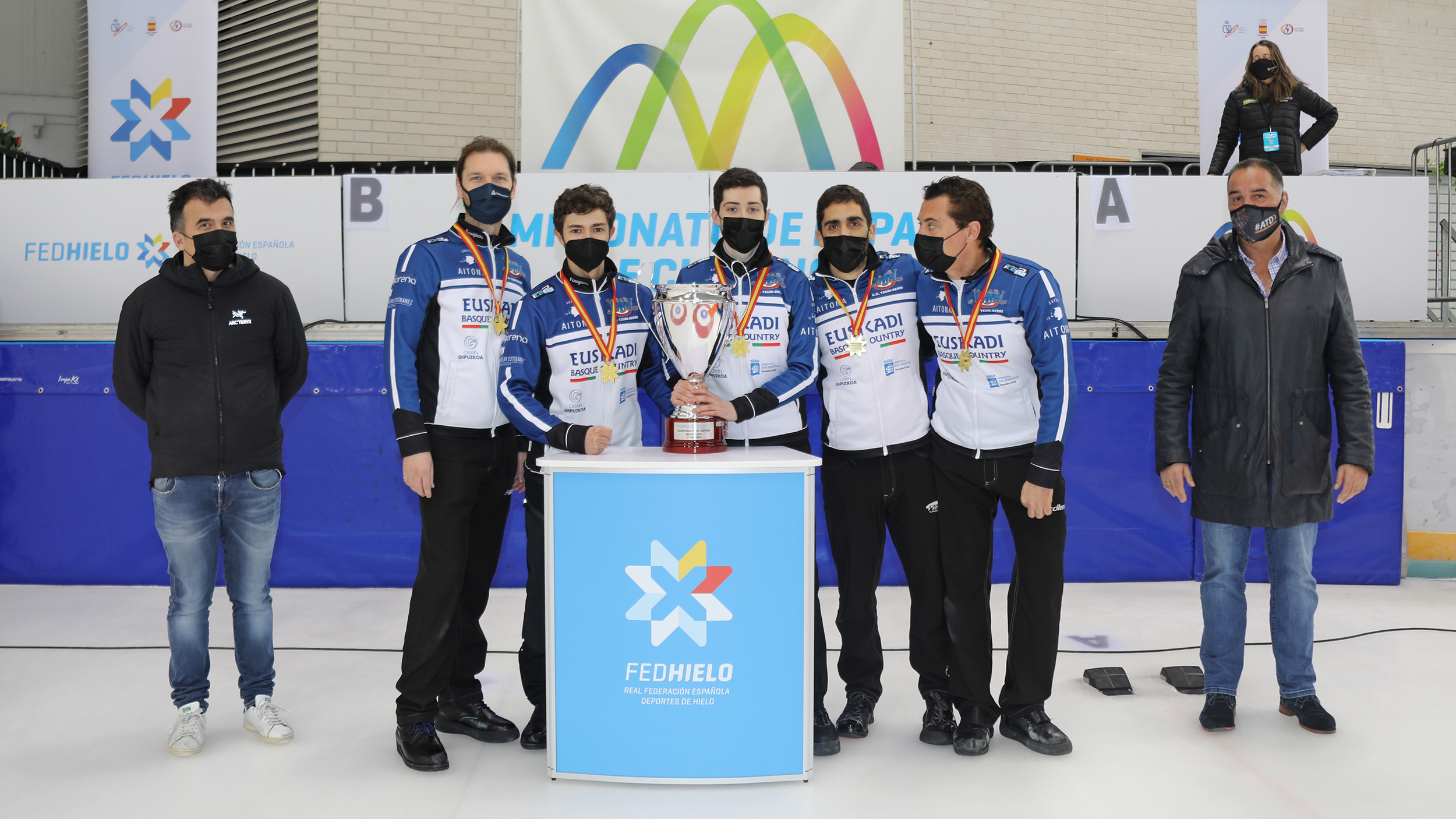 Txuri-Berri, Txuri-Berri Curling logra su séptima corona nacional masculina, Real Federación Española Deportes de Hielo